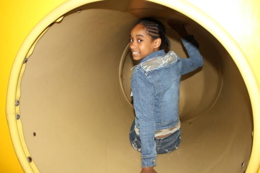 Me going down the slide