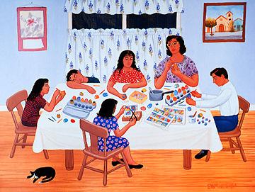 Cascarones by Carmen Lomas Garza