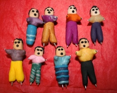 Clay worry dolls