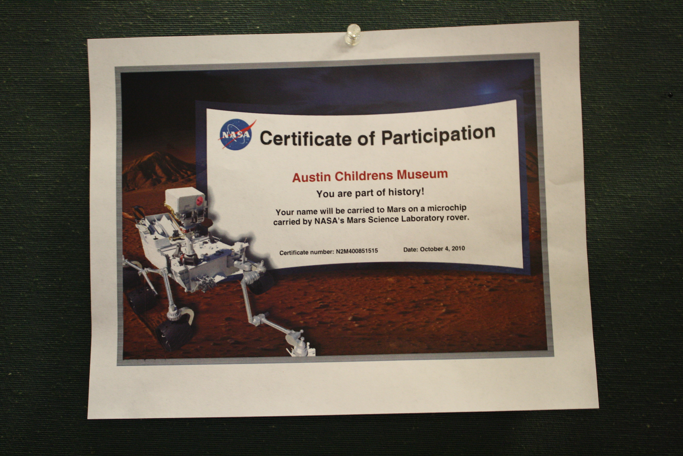 Send Your Name to Mars (page 4) - Pics about space
